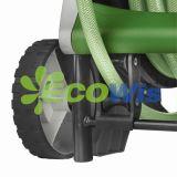 Bobine automatique de tuyau de jardin à l'aide d'un pied