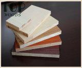 4*8 6/9/12/15/18mm het Vernisje Blockboard van Okoume van de Populier/van de Kern Eucalyptus/Combi voor Meubilair