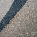 Foil Print Bronzed en daim en cuir en tissu 100% polyester pour canapé