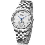 Montre-bracelet en acier inoxydable avec mouvement à quartz (6167)