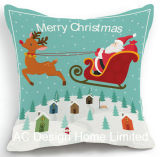 Het vierkante Gelukkige Kussen W/Filling van het Ontwerp van de Kerstman X'mas en van Herten