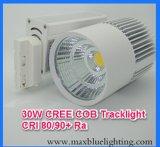 iluminación de la pista del departamento/del almacén/de la alameda LED del encadenamiento de los zapatos 6-45W/de la ropa