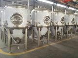 グリコールのジャケット50Lのステンレス鋼の円錐発酵槽