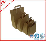 Eco-Friendly Brown Kraft Paper Handle Carrier Promotion Shopping Bag