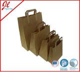 Eco-Friendly 브라운 Kraft 종이 손잡이 운반대 승진 쇼핑 백