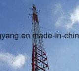 De gegalvaniseerde Toren van de Telecommunicatie van Guyed van de Staaf van het Staal