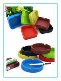 Fumar Accesorios redondas y cuadradas de silicona Cenicero