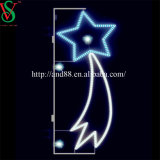 Weihnachtsstraße LED beleuchtet LED-Stern-Motiv-Licht