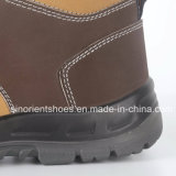 Zapatos de seguridad de cuero de Nubuck de la alta calidad Snn409