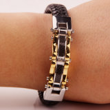 De Armband van het Leer van het Titanium van de Juwelen van Mens van de persoonlijkheid