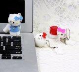 Clé de mémoire USB de dessin animé de PVC personnalisée par lecteur flash USB de chat du Japon