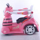Dois motores e motocicleta elétrica do automóvel do bebê a pilhas