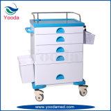 Carro médico da medicina do ABS do uso do hospital com gavetas