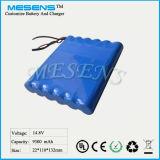 14.8V 9ah Rechargable Lithium-Batterie-Satz (MESENS)
