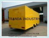 De Verkoop van de Aanhangwagen van het Voedsel van de douane in Alle Grootte