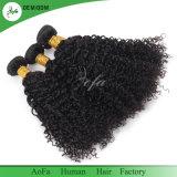Capelli umani all'ingrosso crespi di Remy dei capelli 8A di buona qualità di Afro peruviano del grado