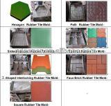 Fijne Volledige Details die over de RubberTegel van Xlb 550X550X4 Machine/het de RubberMachine/Rubber van de Tegel maken de Machine van de Pers betegelen
