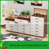 Caixa da combinação de gavetas de madeira para o uso Home