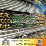 Bs1387 extremidade roscada do tubo de aço galvanizado a quente