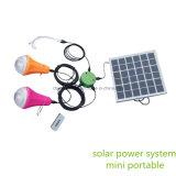 Jogos solares pequenos conservados em estoque da iluminação da HOME da vertente com 300 Lum para cada bulbo