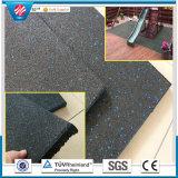 Suelo de goma antirresbaladizo reciclado estera del azulejo de goma del suelo de la gimnasia