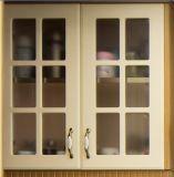 2017 novo e moderno mobiliário de armário de cozinha em madeira maciça Yb-1706018