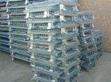 Contenitore d'impilamento pieghevole della rete metallica di memoria del magazzino resistente