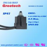 IP67 기운찬 0.1A 12VDC 승인되는 마이크로 스위치