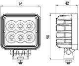 3 Vierkante LEIDENE Epistar van de duim 18W AutoLamp voor de Machines van de Mijnbouw