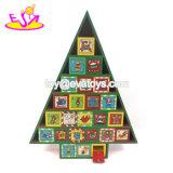 Personalizzare il calendario di legno di avvenimento del giocattolo di natale per i regali W09f010 dei capretti