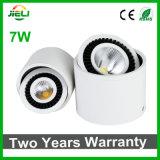 360 gradi 7W Rotable LED montato di superficie giù si illuminano