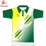 Diseño de la manera de Healong que hace publicidad de la camisa de polo unisex de la sublimación de la ropa para la venta