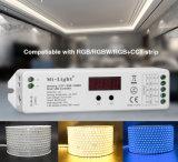 4 en 1 regulador elegante de la tira dévil del CCT RGB RGBW LED