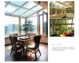 중국에 의하여 주문을 받아서 만들어지는 지붕 Alumium 저가 일광실, 심미적인 정원 집 이중 유리를 끼우기에 있는 신기술 제품