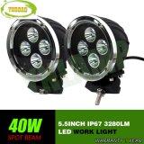 40W 5.5INCH LEDs CREE LED da lâmpada de trabalho Automática da Luz de Trabalho