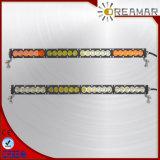 guide optique de rangée simple du CREE DEL de 25inch 120W avec le voyant ambre de White&