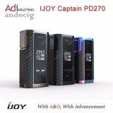 Het hete Verkopen Ijoy Kapitein Pd270 Original Ijoy Mod. Pd270 van de Kapitein Doos past Dubbele 20700/Dubbele 18650