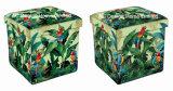 يورّق خضرة استوائيّة تصميم مربّعة مكعّب [بو] جلد وخشبيّة يطوي تخزين مقصد [أتّومن] كرسيّ مختبر