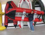 De hete Kajak van de Visserij van de Verkoop Lichtgewicht Vouwbare 12FT 370cm met BuitenboordMotor