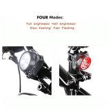L'indicatore luminoso ricaricabile della bici del USB LED dei ciclisti stabilito impermeabilizza - il faro bianco ed il fanale posteriore rosso