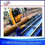 Marinegeräten-Aluminiumgefäß-Ölpipeline CNC-Plasma-Flamme-Ausschnitt-Loch-abschrägenmaschine