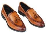 Chaussures de Brown de loisirs de chaussures de robe formelle d'hommes de cavité de boeuf de gland