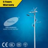 Forte luminosité 40W éolienne et solaire Rue lumière hybride