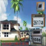 Numéro de la maison lumière solaire