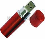 高品質によってカスタマイズされる銀製の小型金属の口紅USBのフラッシュ駆動機構