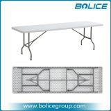 8FT Rectangle Table en plastique de pliage avec 1 pièce Haut de page