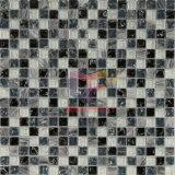 灰色の自然な大理石の組合せの割れた水晶モザイク・タイル(CS129)