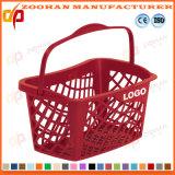 고품질 선전용 장식용 상점 슈퍼마켓 손잡이 쇼핑 바구니 (Zhb119)