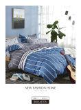 Draps de lit en coton imprimé réactive avec oreiller shams