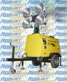 Runder MetallHalide Halogen-Dieselmotor-Drehstromgenerator Genset beweglicher heller Aufsatz, der vertikalen hydraulischen beweglichen Beleuchtung-Aufsatz-Generator ineinanderschiebt